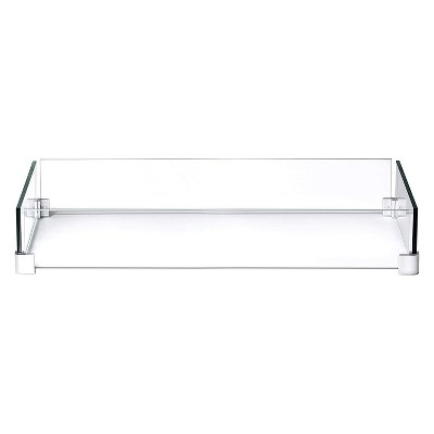 Napoleon GPFTR-WNDSCRN Outdoor Windscreen Flame Guard for Rectangle St. Tropez & Kensington Patioflame Tables, 35.75 x 14.25 x 5.5 Inch, Clear