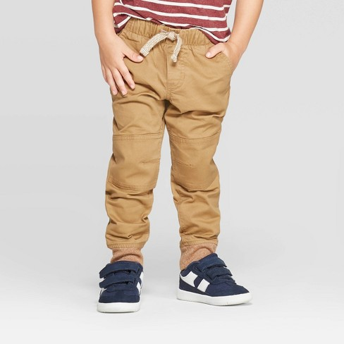 Toddler Boys' Pull-on Pants - Cat & Jack™ Brown - image 1 of 3