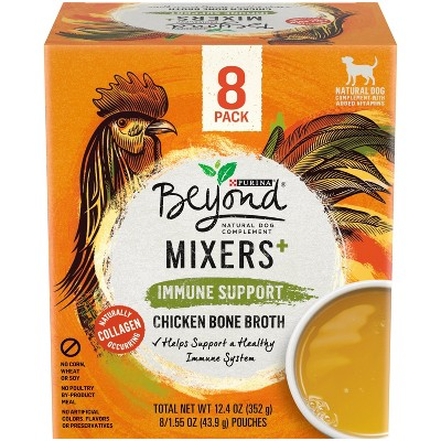 Purina Beyond Mixers Inmmune Support Chicken Bone Broth Wet Dog Food Complement - 1.55oz/8ct Pack