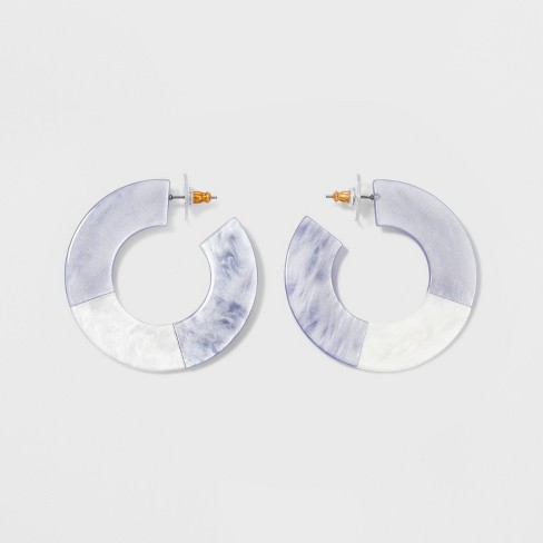 SUGARFIX by BaubleBar Two-Tone Resin Hoop Earrings