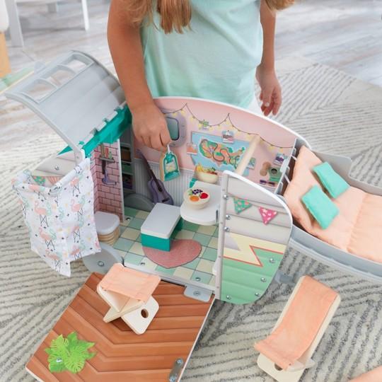 KidKraft Vintage Luxe Dolly Wooden Camper image number null