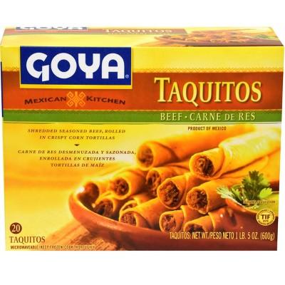 Goya Mexican Kitchen Frozen Beef Taquitos - 21.16oz