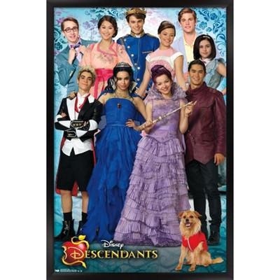 Trends International Disney Descendants - Group Framed Wall Poster Prints