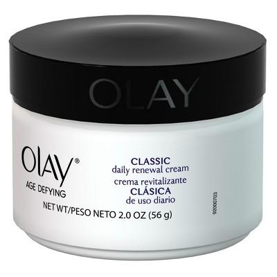 Olay Age Defying Classic Daily Renewal Cream Facial Moisturizer - 2 oz
