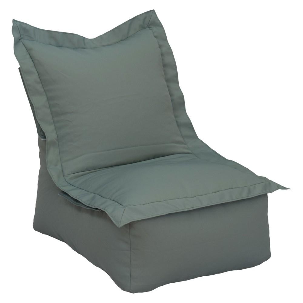 Image of Ace Bayou Outdoor Bean Bag Lounger - Gray, Gray/Green