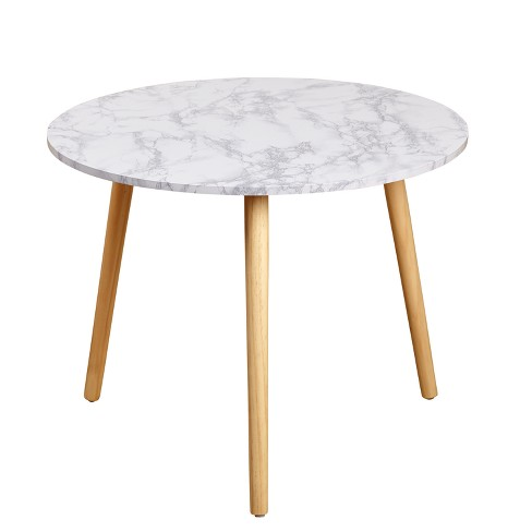 Darcy RoundCoffee Table White/Natural - Buylateral - image 1 of 3