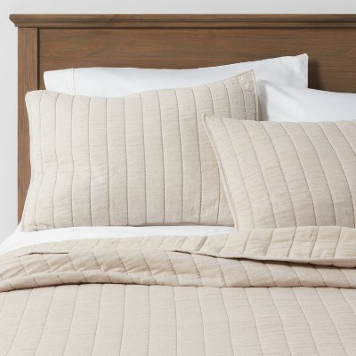 King Herringbone Flannel Quilt Natural - Threshold™