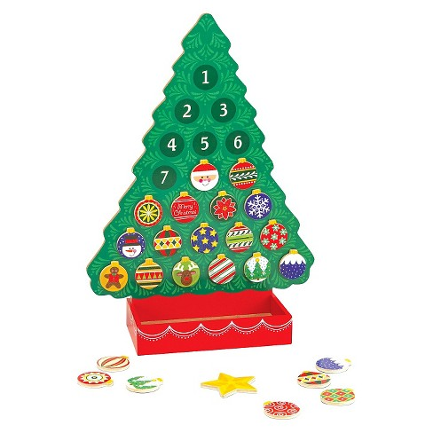 Melissa & Doug® Countdown to Christmas Wooden Advent Calendar - Magnetic Tree, 25 Magnets - image 1 of 3