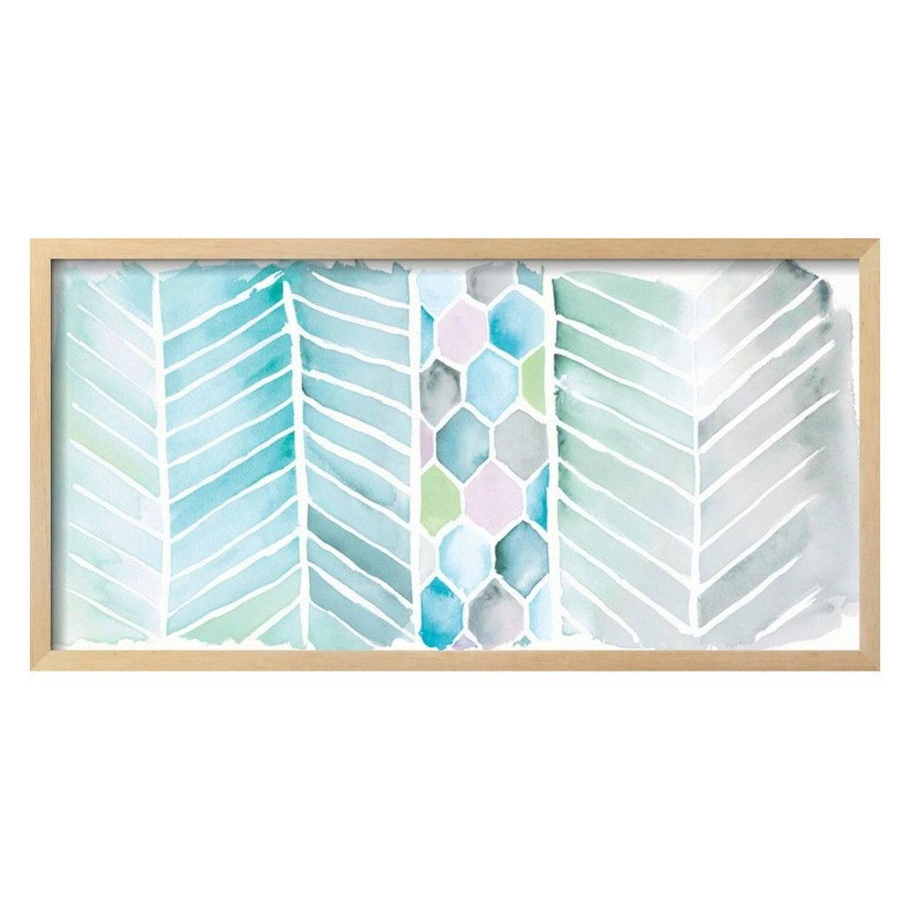 Watercolor Chevron Bright By Elyse DeNeige Framed Wall Art Poster Print 31