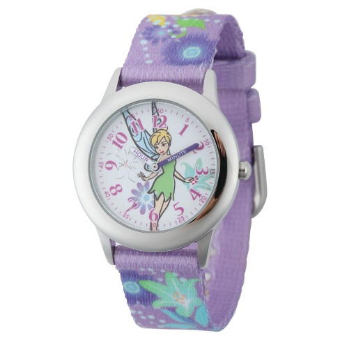 Disney® Girls' Tinker Bell Stainless Steel Case with Bezel Watch - image 1 of 2