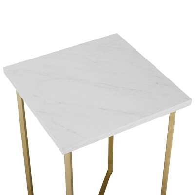 Luxe Two Tone Glam Side Table - Saracina Home : Target
