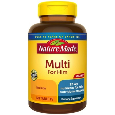Nature Made Value Size Men's Multivitamin Tablets - 120ct