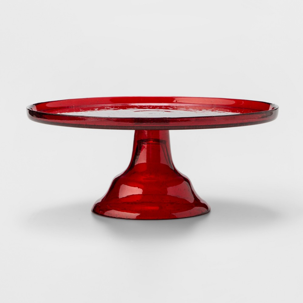 Image of 11.7 Glass Cake Stand Red - Threshold