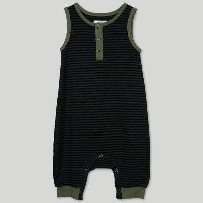 Afton Street Baby Boys' Sleeveless Jumpsuit - Black 3-6M