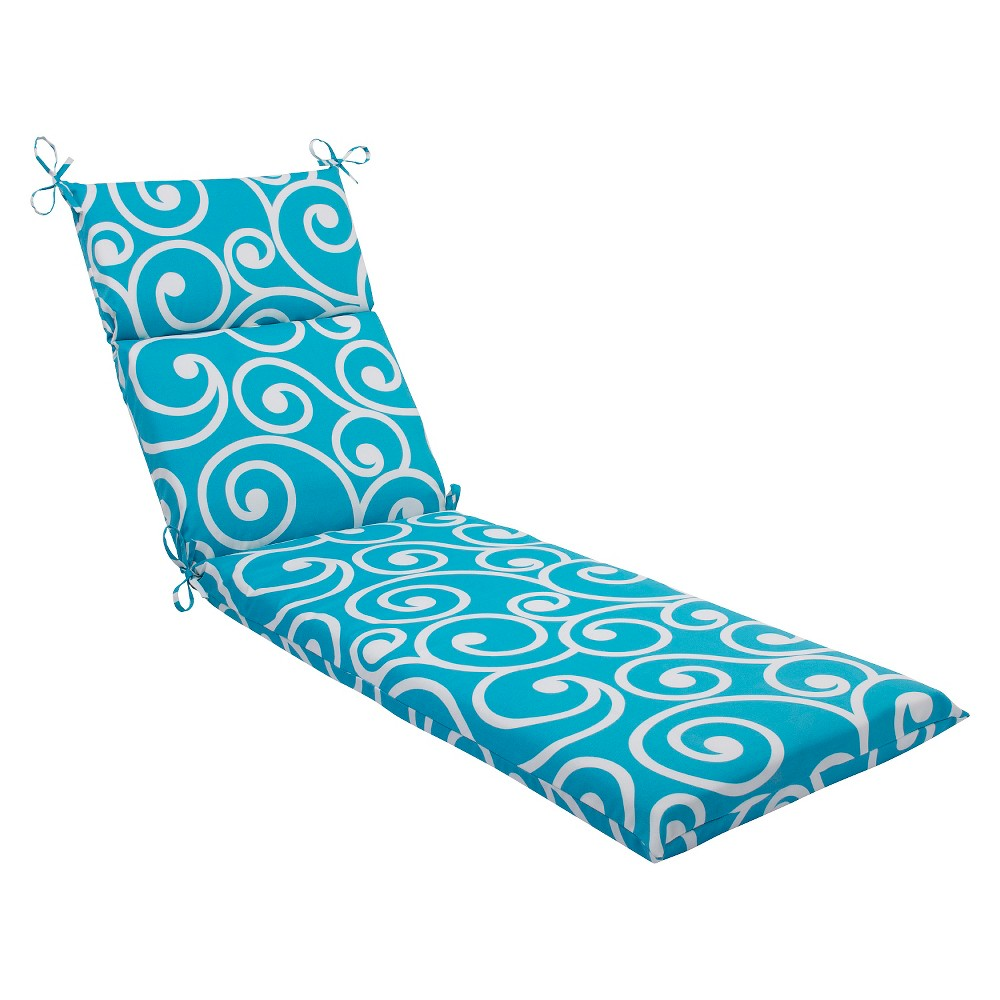 Pillow Perfect Best Outdoor Chaise Lounge Cushion - Blue, White Blue