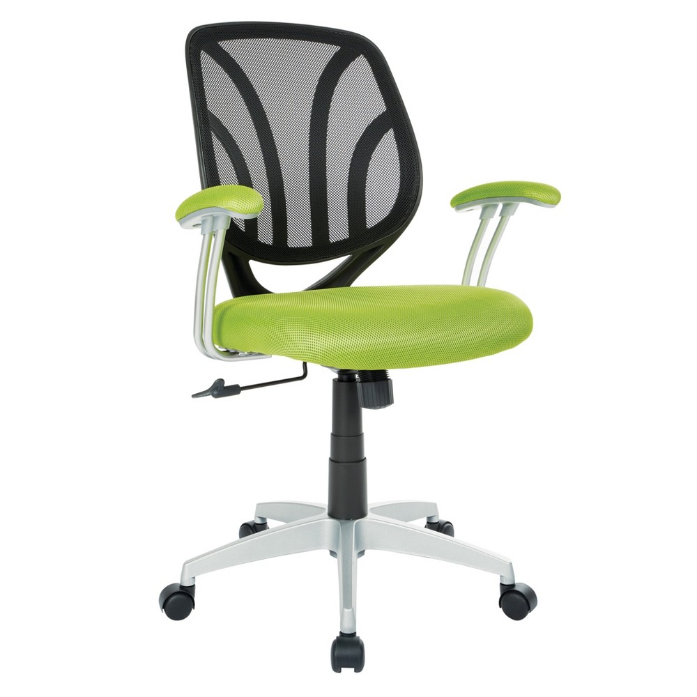 Screen Back Chair with Base Green - Osp Home Furnishings