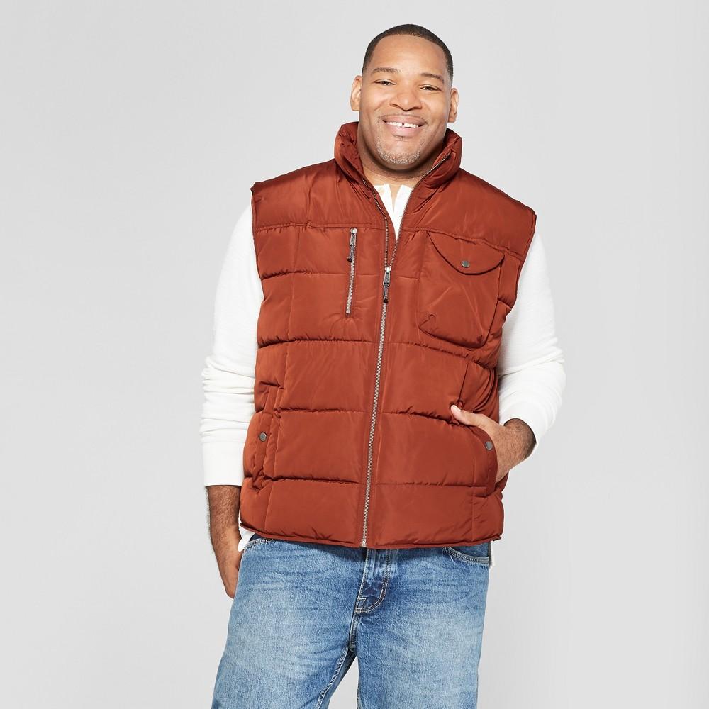 Men's Big & Tall Puffer Vest - Goodfellow & Co Rust (Red) 4XBT