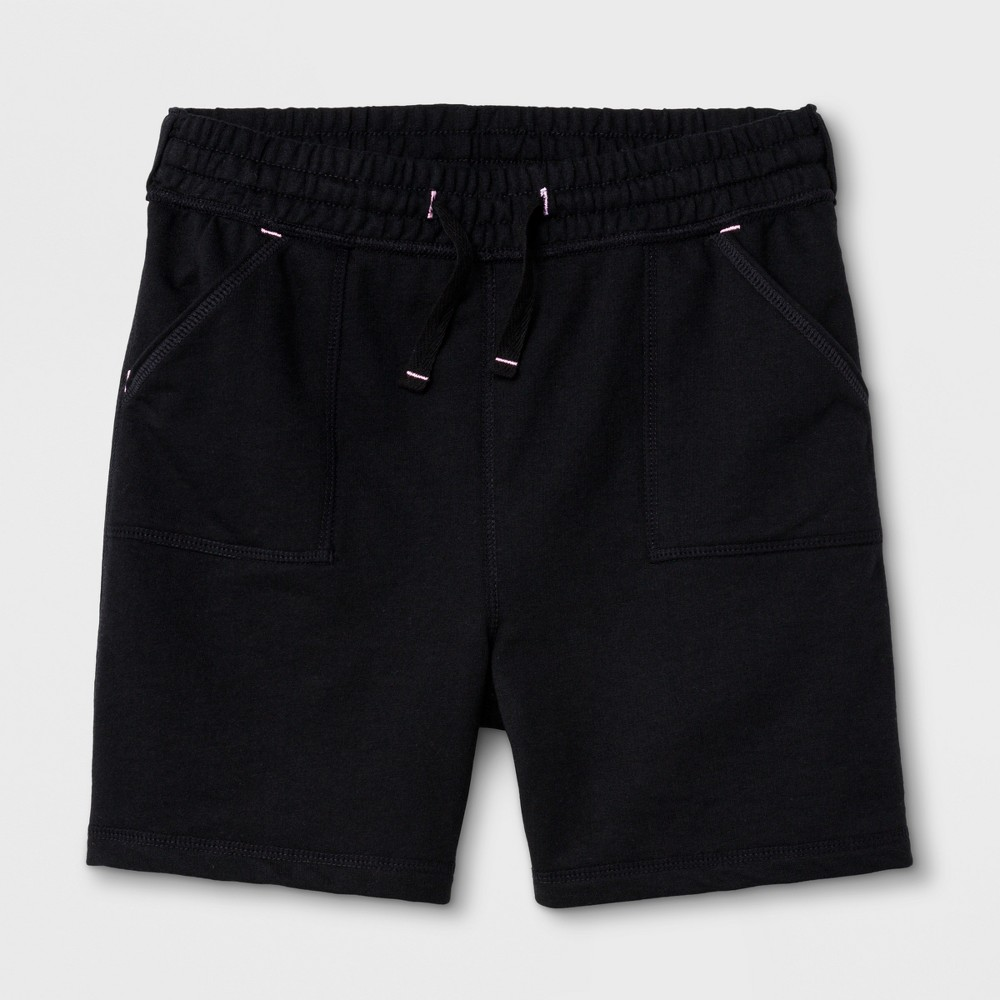Girls' Adaptive Knit Shorts - Cat & Jack Black M