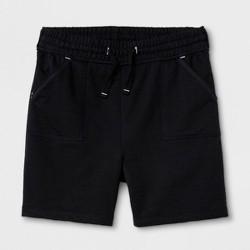 Girls' Adaptive Knit Shorts - Cat & Jack™ Black
