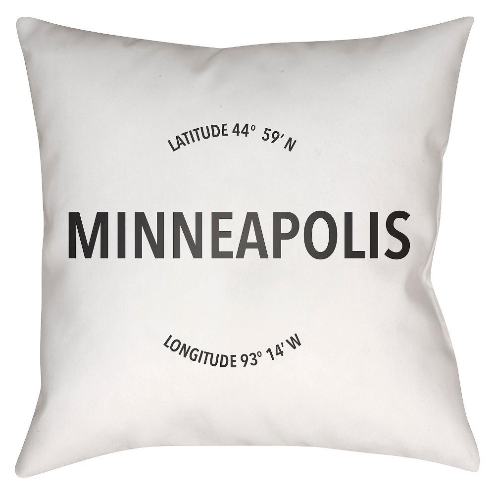 White City Compass Minneapolis Throw Pillow 18