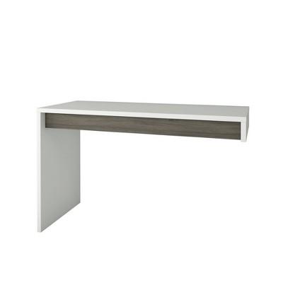 Chrono Reversible Desk Panel Bark Gray/White - Nexera