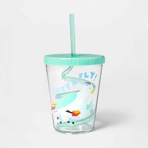 15oz Plastic Cockatoo Tumbler with Lid and Straw Green - Sun Squad™ - image 1 of 1