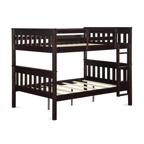 Full over Full Dolan Bunk Bed with USB Port Espresso - Dorel Living - image 1 of 4