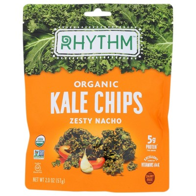 Rhythm Super Foods Zesty Nacho Kale Chips 2.0oz 12 pack