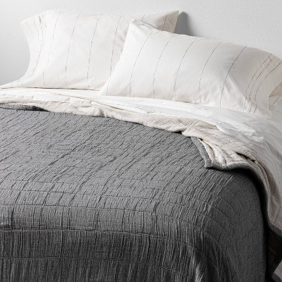 King Matelassé Quilted Coverlet Gray - Hearth & Hand™ with Magnolia