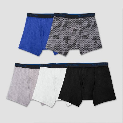 Fruit Of The Loom® Boys' 5pk Breathable Cotton-Mesh Boxer Briefs