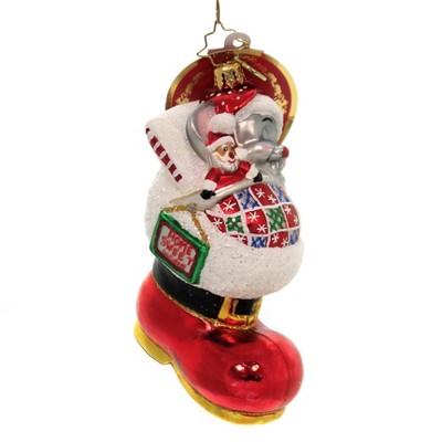 "Christopher Radko 5.0"" Dreaming Of Santa Ornament Boots Santa Mouse  -  Tree Ornaments"
