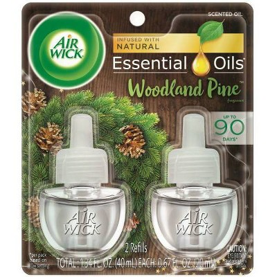 Air Wick Scented Oil Twin Refill Essential Oils   Woodland Pine   (2x.67) Oz by Air Wick