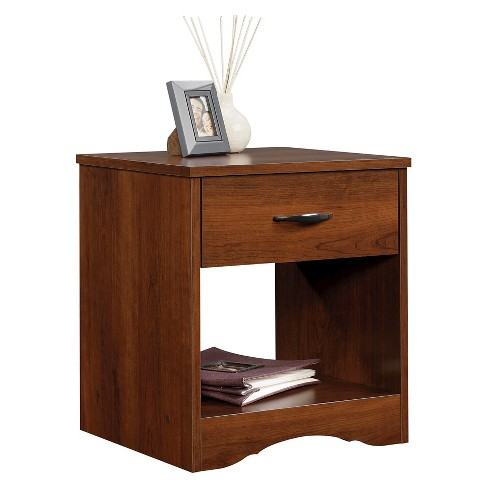 Beginnings Nightstand with Drawer & Storage Shelf - Cherry - Sauder - image 1 of 1