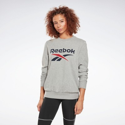 Reebok Identity Logo French Terry Crew Sweatshirt Womens