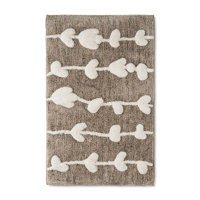32 x20  Tufted Floral Bath Rug Cream/Brown - Project 62™