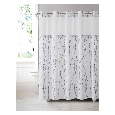 Hookless Cherry Bloom Shower Curtain With Liner White Target