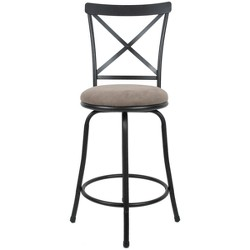 Karson Adjustable Height X Barstool Light Bronze - Cheyenne Products