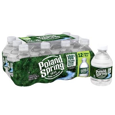 Poland Spring Brand 100% Natural Spring Water - 12pk/8 fl oz Mini Bottles