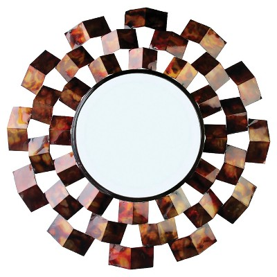 Wall Mirror-Triangle in Circle - Bronze - Home Source