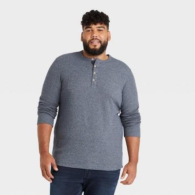 Men's Standard Fit Long Sleeve Henley T-Shirt - Goodfellow & Co™