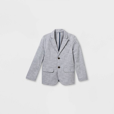 Boys' Chambray Blazer Jacket - Cat & Jack™ Blue