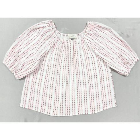 Women's Bubble Elbow Sleeve Blouse - Universal Thread™ White XXL - image 1 of 4
