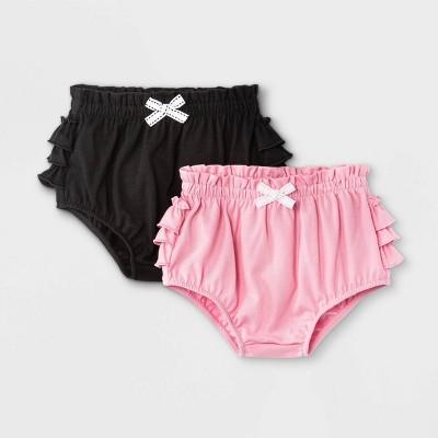 Baby Girls' 2pk Ruffle Bum Bubble Pull-On Shorts - Cat & Jack™ Pink
