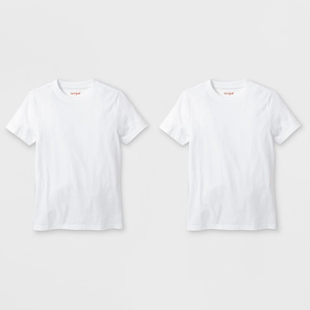Image of petiteBoys' 2pk Short Sleeve T-Shirt - Cat & Jack White L, Boy's, Size: Large