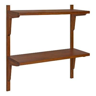 "24"" x 8"" x 24"" Meridien Wood Wall Shelf - Kate & Laurel All Things Decor"