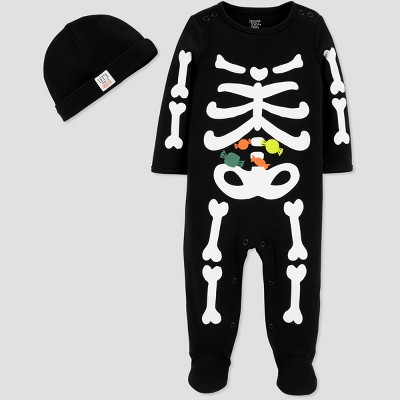 Baby Boys' Halloween Skeleton SNP Set - Just One You® made by carter's Black Newborn