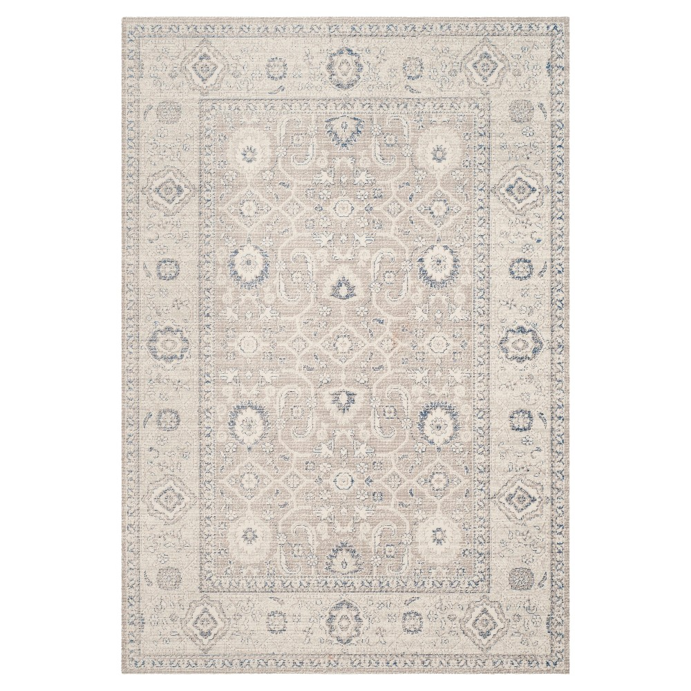 Oliver Zero Pile Area Rug - Taupe / Ivory ( 6' 7 X 9' ) - Safavieh, Brown/Ivory
