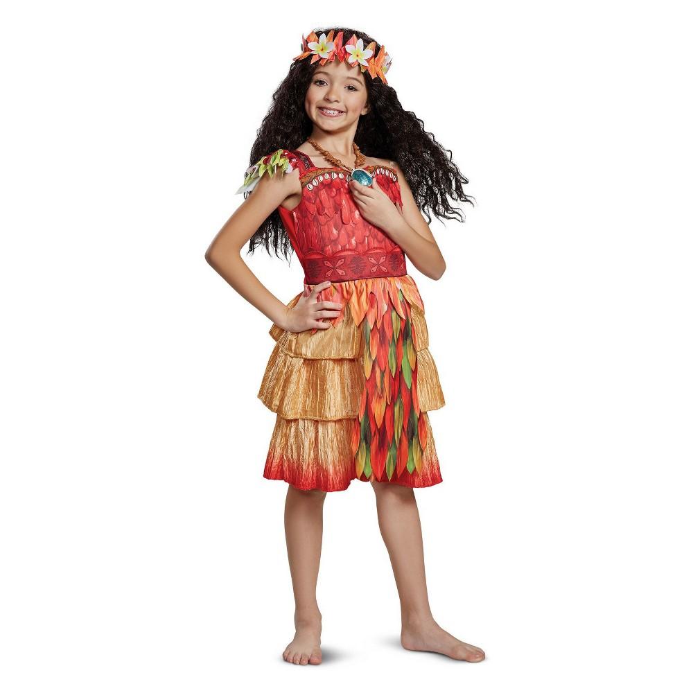 Girls' Moana Halloween Costume S, Multicolored