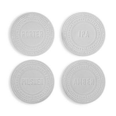 true Ceramic Beer Coaster Set - Silver