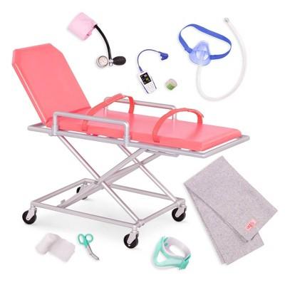 """Our Generation Medical Set with Stretcher for 18"""" Dolls - OG Medi-Care"""